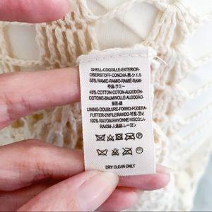 Free People Dresses - Free People Crochet Mini Dress in Ivory